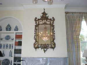 Decorative mirror hanging