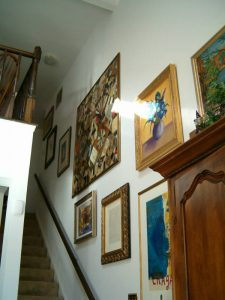 Staircase art collage