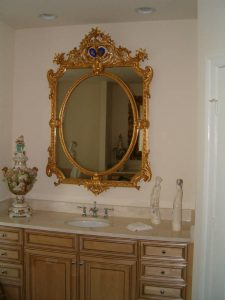 Antique mirror for sink