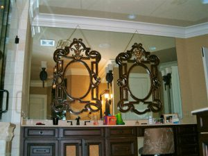 Stunning mirror hanging for sink and vanity