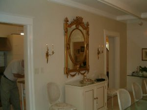 Antique mirror hanging
